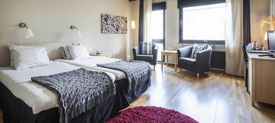 Det er muligt at booke dobbeltværelserne med en eller to ekstra senge, perfekt for ferier med tre eller fire personer.