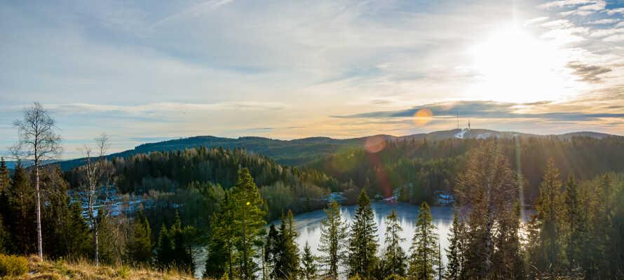 Oplev Nordmarkas flotte natur, som ligger en kort togtur fra hotellet.