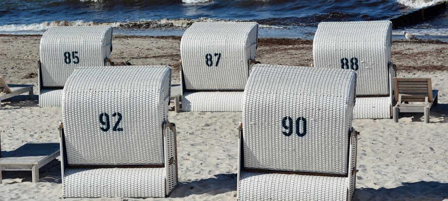 Strandausflug: Heiligendamm hat wunderschöne Strände und ist eine gute Gelegenheit, das Meer und die Sonne zu genießen.