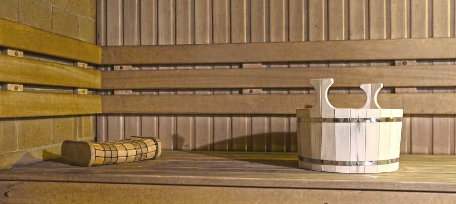 Hotellets gæster kan frit benytte hotellets sauna.