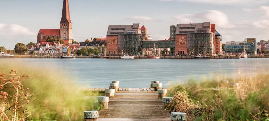 Fra hotellet er der ikke langt til det historiske centrum i Rostock.