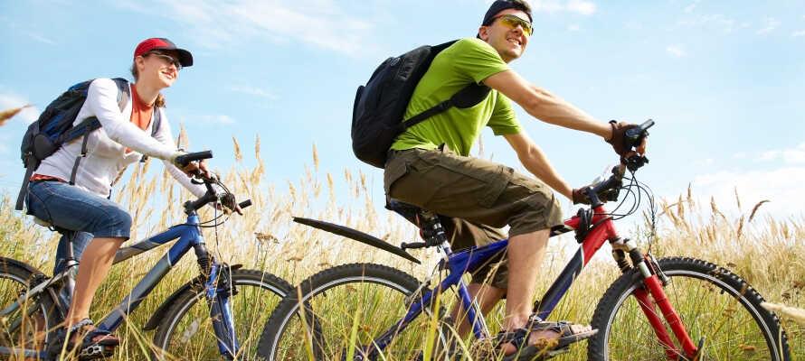 Der findes adskillige gode cykelruter nær hotellet, og langs kanalen.