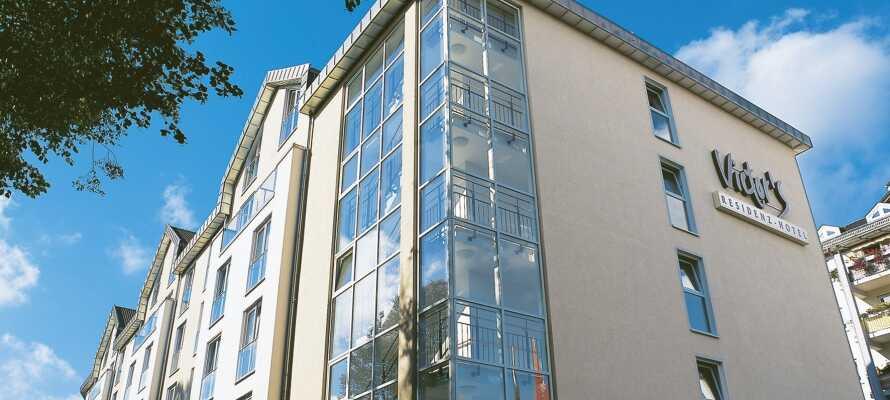 Det 4-stjärniga Victor's Residenz-Hotel Gummersbach är trevligt beläget i natursköna Nordrhein-Westfalen