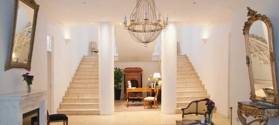 Hotel Friedrich Franz Palais byder på et lækkert interiør med et charmerende decór og dejlige omgivelser.