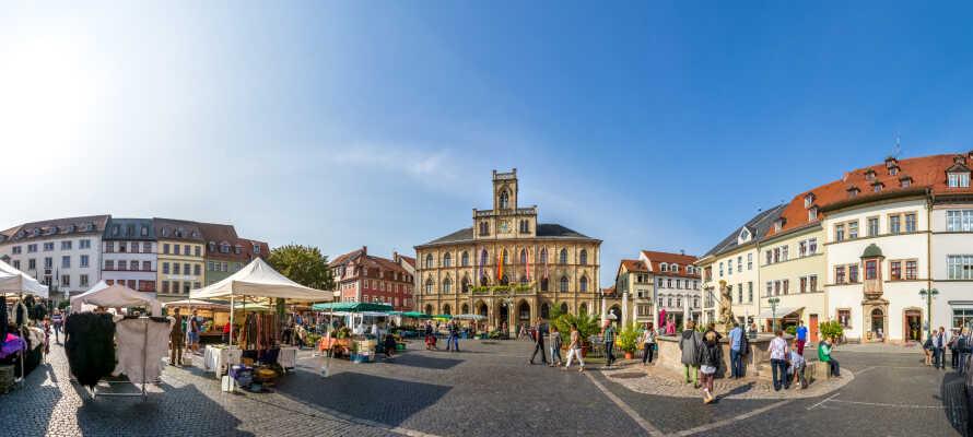 Opplev UNESCO byen Weimar som er full av sjarm, liv, kultur og historie.