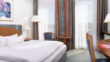 Et eksempel på et av hotellets dobbeltrom