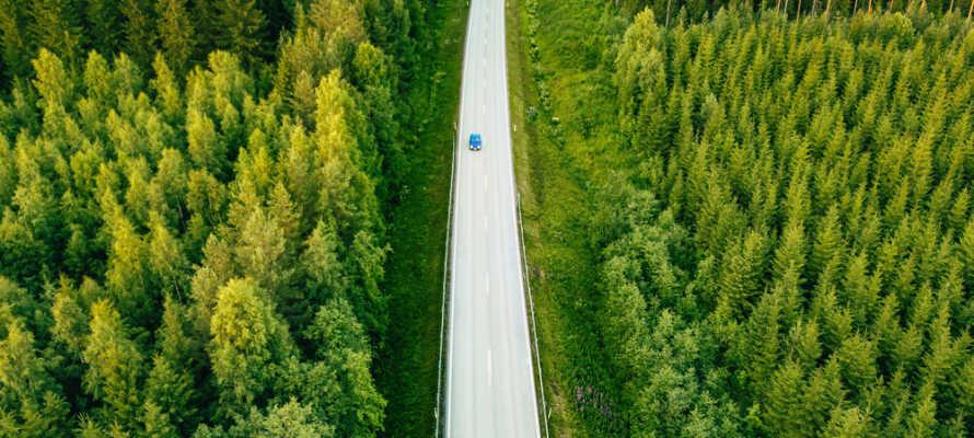 Das Hotel liegt in der Nähe vieler aufregender Sehenswürdigkeiten Dalarnas und seiner wunderschönen Landschaft.