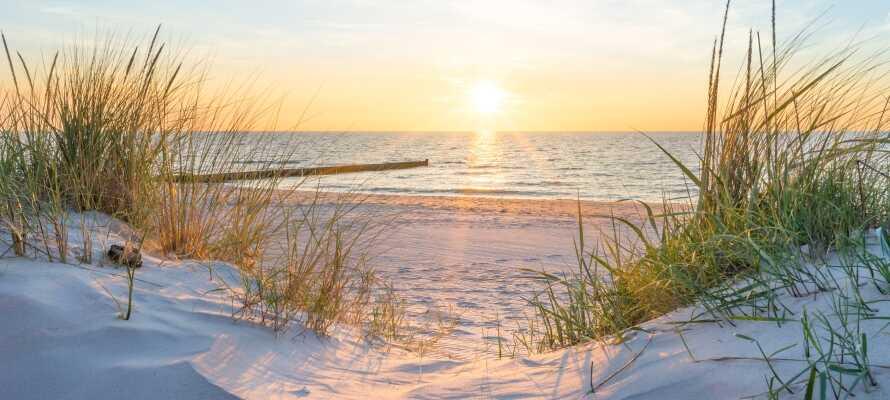 Hotel Apfelblüte ligger endast ca 5 km från närmsta sandstrand, vid Östersjöns kust, i nordöstra Tyskland.