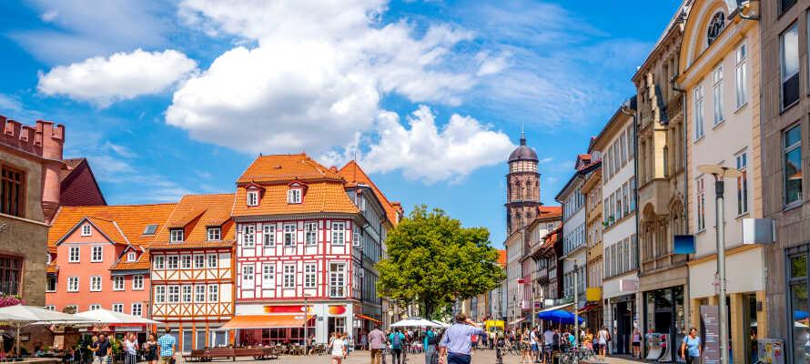 Tilbring nogle herlige dage med kultur og historie i den charmerende tyske universitetsby, Göttingen, i Niedersachsen.