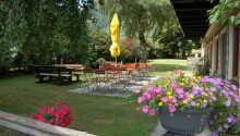 När vädret tillåter kan ni koppla av i hotellets trädgård och uteplats.