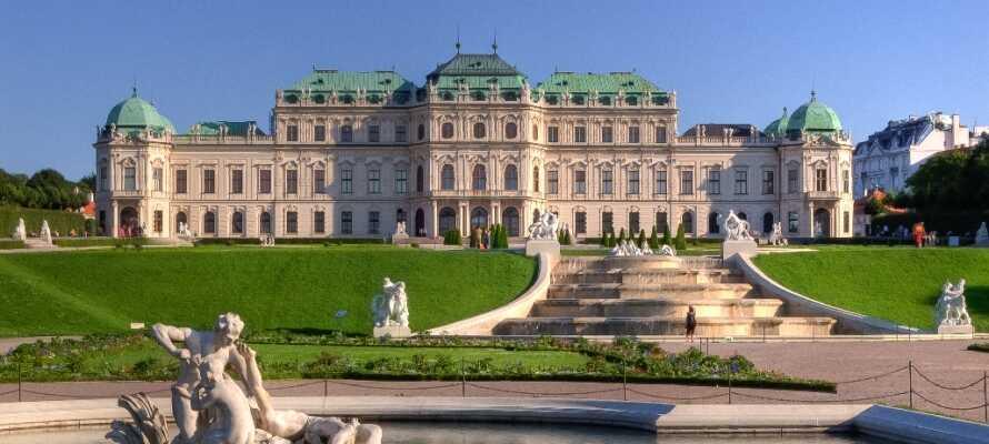 Belvedere besteht aus zwei barocken Palästen und verfügt über Kunstausstellungen aus mehr Epochen