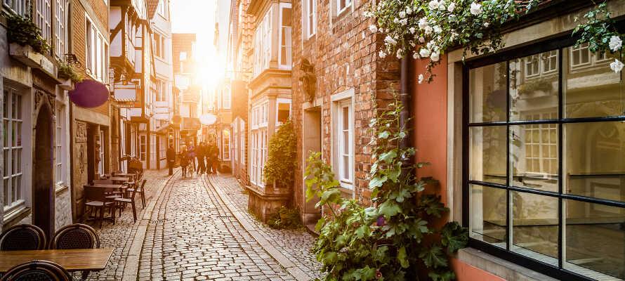 I bor i gåafstand fra Bremens charmerende Altstadt, hvor I bl.a. kan opleve Schnoor-distriktet.