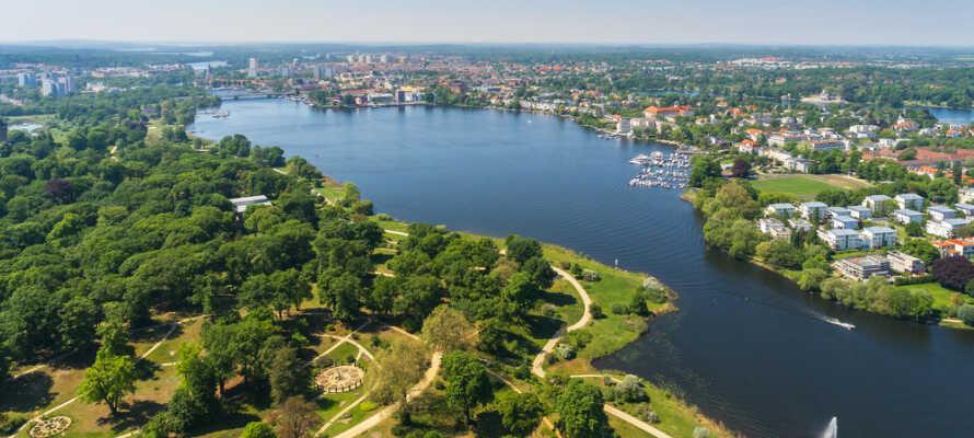 Kort vei fra hotellet til rurale og langsomme Brandenburg rundt urbane og livlige Berlin.