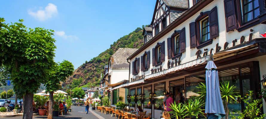 Das Mosel Hotel Burg-Cafe Alken genießt eine Top-Lage an der Mosel, in dem kleinen, charmanten Dorf Alken.