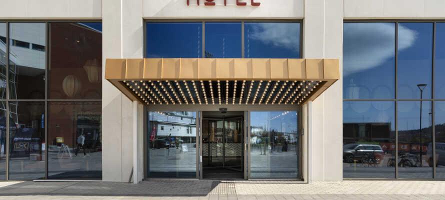 Nyd en herlig 4-stjernet ferie på dette spritnye hotel, beliggende direkte i Åby Arena, syd for Göteborg.