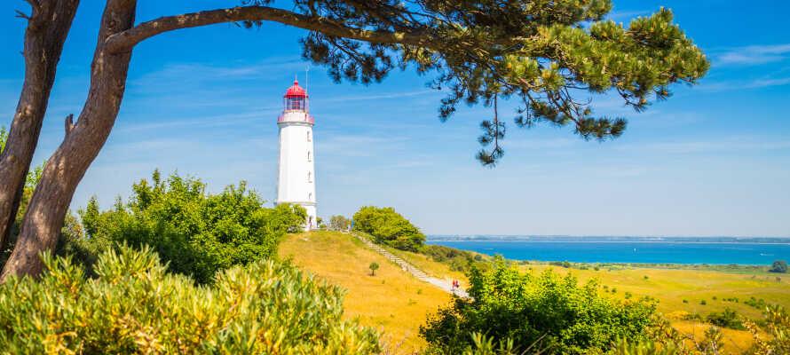 Besøg Hiddensee, som er en smuk mindre ø, beliggende vest for Rügen, og er kendt for sit charmerende fyrtårn.