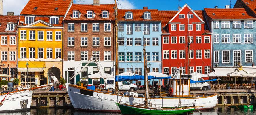 Kombiner jeres ophold med en tur til København, og besøg Nyhavn.