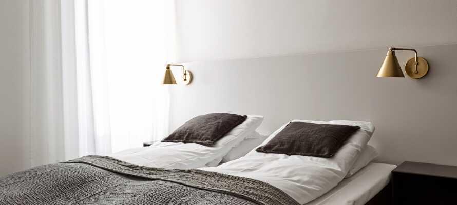 De flotte værelser er indrettet i en moderne nordisk stil, og tilbyder et højt komfortniveau under opholdet i Roskilde
