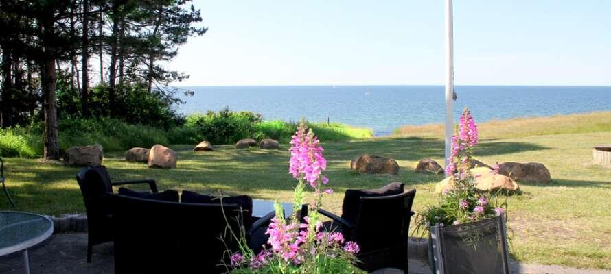 Die Küstenhäuser befinden sich in Gilleleje in Dänemarks Norden.