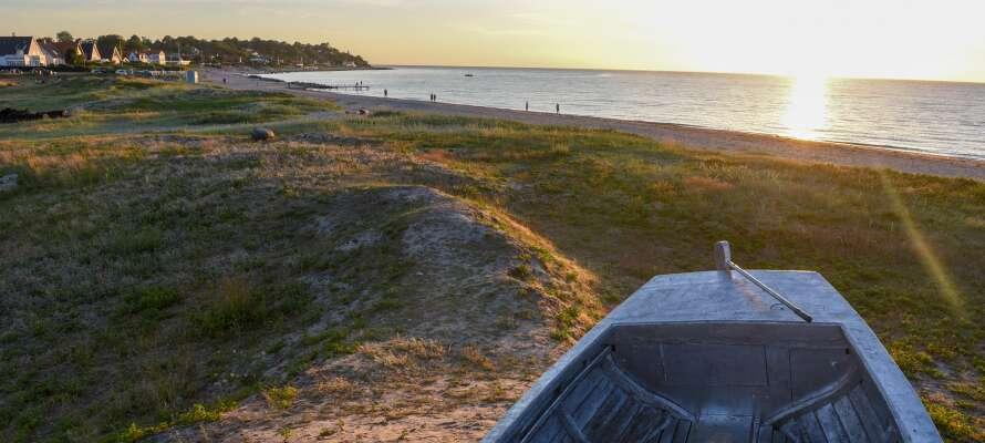 Dere bor nær Nordsjællands skjønne natur, og har stranden innenfor gangavstand.