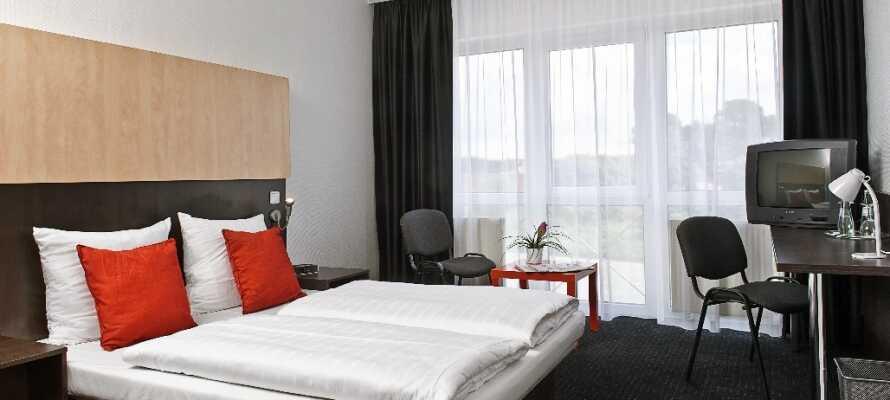 De bekväma hotellrummen bidrar till att er semester blir optimal.