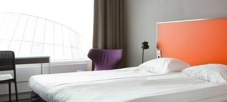 Få en god nats søvn i komfortable senge.