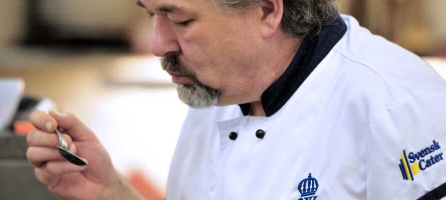 Wångens Wärdshus serverer hjemmelaget mat basert på lokale råvarer og med et øye for de jämtlandske spesialitetene.