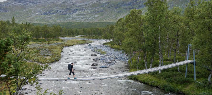 Det finns många spännande och anrika vandringsleder, som S:t Olavsleden, i området runt hotellet