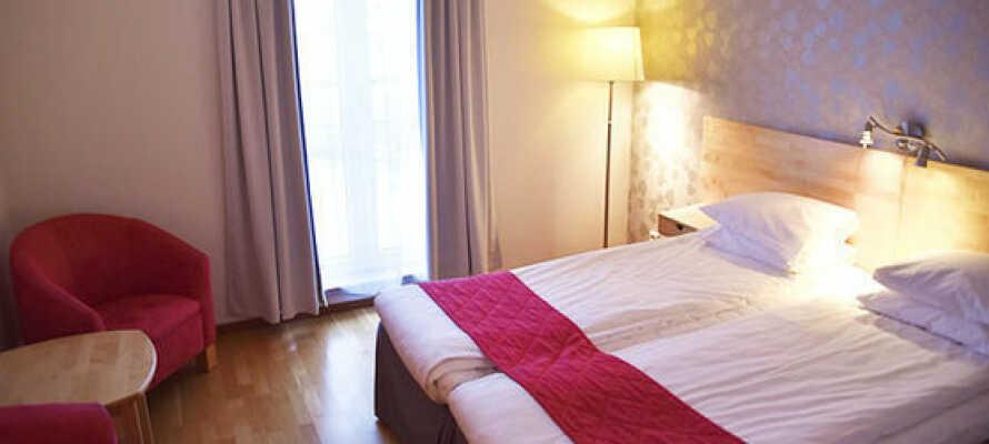 Her tilbydes i en god nattesøvn i behagelige senge fra 'Kinnabädden'.