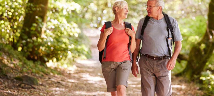 Passa på att tag er ut i skogen och de vackra och natursköna omgivningarna.