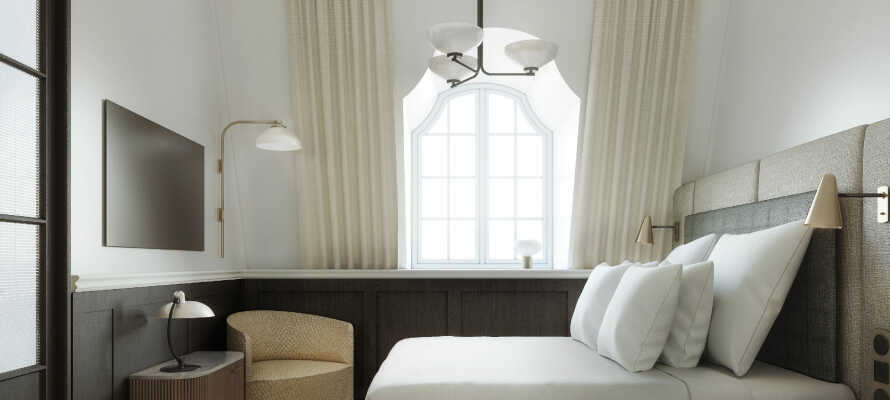 Hotellet är nyöppnat och här har man höga ambitioner för design och komfort vilket verkligen märks på rummen