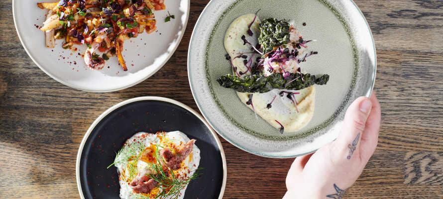 Hotellets brasserie, 'Kontrast', tilbyr deilig mat i et fantastisk 'zero waste' -konsept.