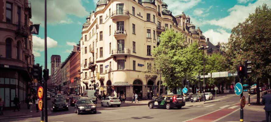 Nyd godt af en yderst central placering ved Stureplan midt i Stockholms bykerne.