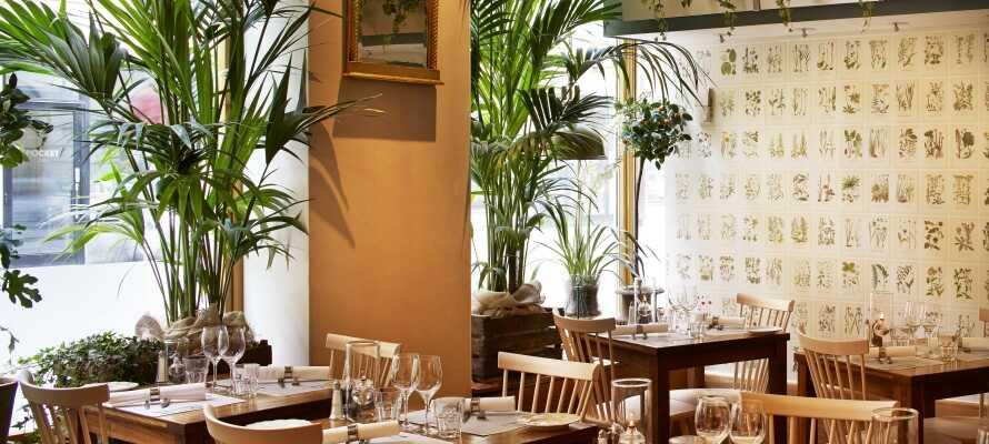 Hotellets lobby, bar och restaurang är inrett med inspiration från Downtown Abbey.