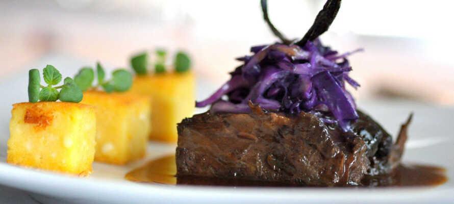Im Hotelrestaurant wird Genuss auf höchstem Niveau serviert.