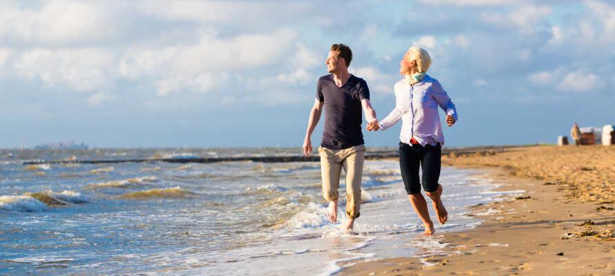 Ni finner närmsta strand endast en kort bilfärd från St. Michaelisdonn.