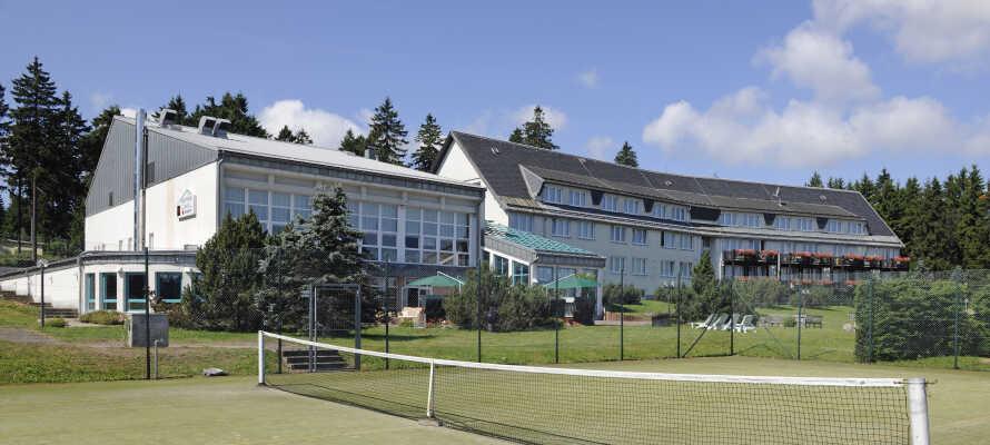 Sportshotel Oberhof bjuder på goda möjligheter till en aktiv semester året runt.