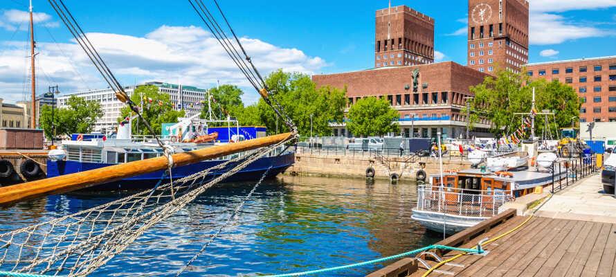 Mitten in Oslo wohnen Sie nur wenige Schritte vom Rathaus, dem Hafen und dem Theater entfernt.