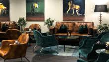 Sie können in der gemütlichen Lobby entspannen, in der Sie als Hotelgast kostenfrei Kaffee und Tee genießen können.