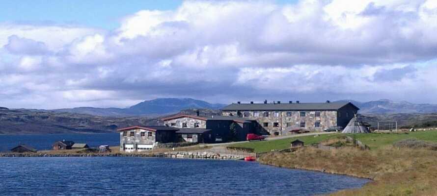 Das Hotel hat einen fantastischen Blick auf Hallingskarvet und Reineskarvet im Bergsjø-Gebiet von Ål in Hallingdal.