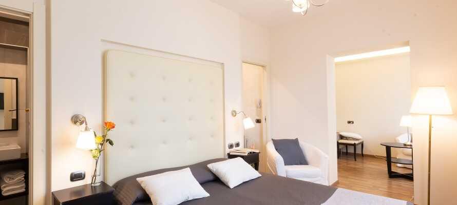 Die komfortablen Zimmer mit Möglichkeiten für Zusatzbetten machen das Hotel ideal für Familien.