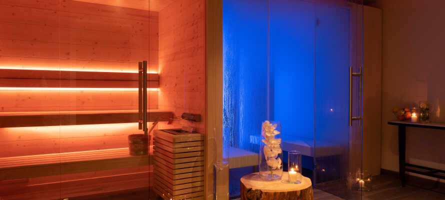 Hotellet er perfekt for et avslappende opphold med wellness og spa.