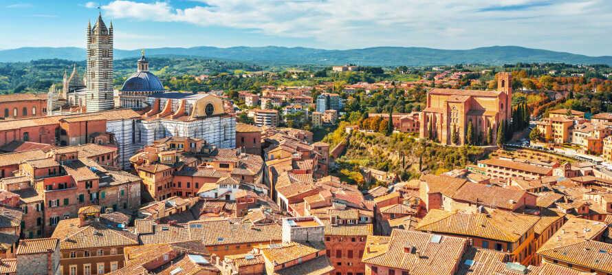 Besuchen Sie spannende Städte in der Nähe, wie Montepulciano, Siena und Chianciano Terme.