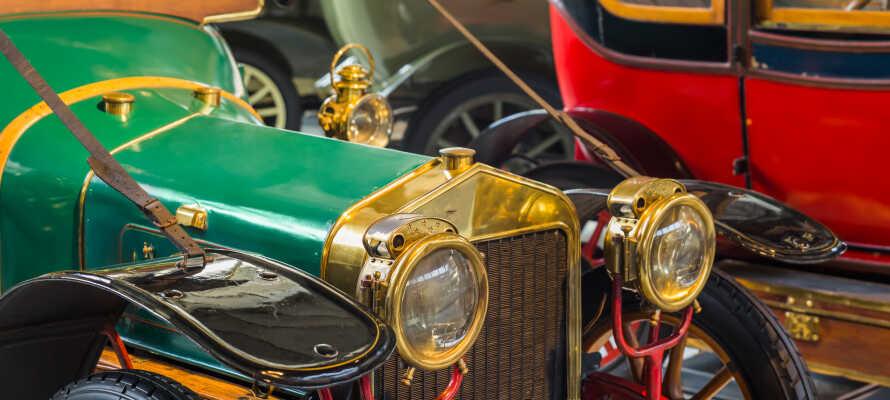 Machen Sie einen Familienausflug zum Motormuseum von Motala. Als Gast des Hotell Nostalgi City ist der Eintritt frei.