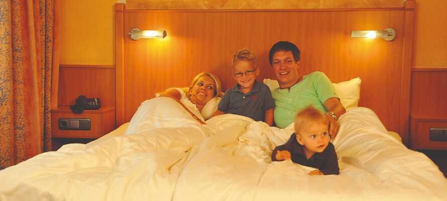Erleben Sie einen unvergesslichen, traumhaften Familienurlaub vom Feinsten; mit gemütlichen und geräumigen Zimmern.