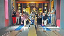 Kombineret hotell- og fritidsanlegg som kan by på mange aktiviteter med alt fra bowling og minigolf til kino.