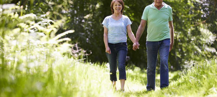 Hotellet är omgivet av vacker och grönskande natur, perfekt för trevliga promenader.