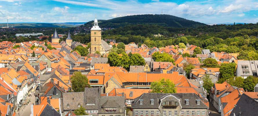 Här bor ni också endast en timmes bilfärd från den vackra staden Goslar, i Harz.