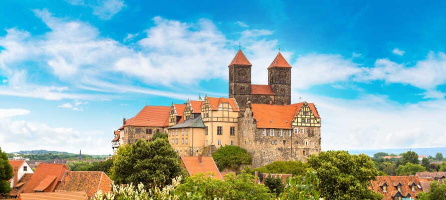 Besök vackra medeltidsstäder som Quedlinburg, som också finns med på UNESCOs världsarvslista