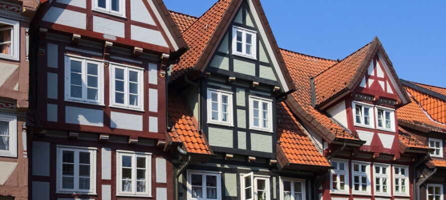 Hotellet ligger i Celle, som er kendt for sin maleriske Altstadt, med mere end 400 charmerende bindingsværkshuse.